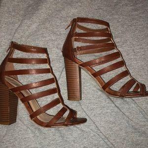 Women's block high heel sandal